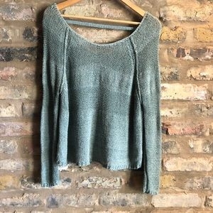FREE PEOPLE linen/cotton Blend pullover sweater XS
